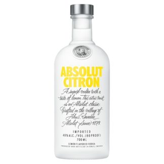 Absolut Citron Lemon Flavoured Vodka 70cl