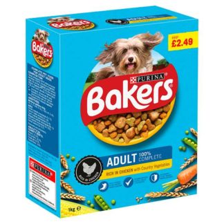 Bakers Adult Dry Dog Food Chicken and Veg 1kg (Case of 5)