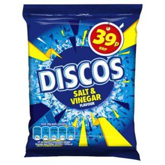 Discos Salt & Vinegar Flavour 34g (Case of 30)