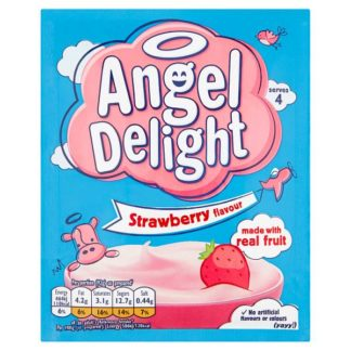 Angel Delight Strawberry Flavour Dessert 59g (Case of 21)