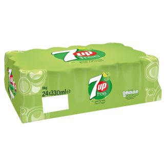 7UP Free Sparkling Lemon & Lime Drink Cans 24x330ml (Case of 24)
