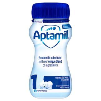 Aptamil 1 First Baby Milk Formula From Birth 200ml (Case of 12)