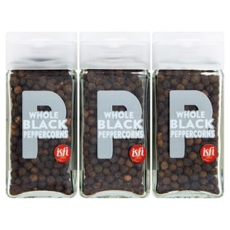 Isfi Spices Whole Black Peppercorns 6 x 41g (Case of 6)