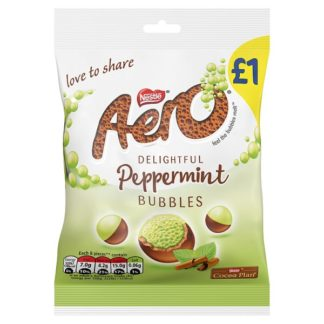 Aero Bubbles Peppermint Mint Chocolate Bag 80g (Case of 12)