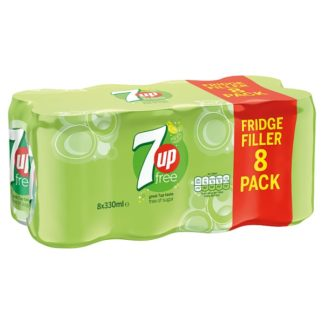 7UP Free 8 x 330ml (Case of 3)