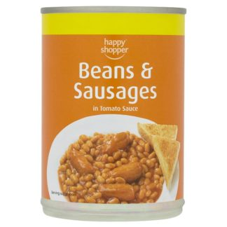 Happy Shopper Beans & Sausages in Tomato Sauce 395g (Case of 6)