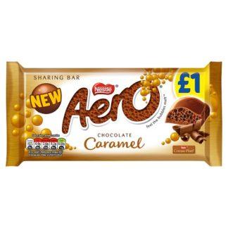 Aero Caramel Chocolate Sharing Bar 100g (Case of 15)