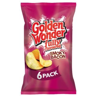 Golden Wonder Fully Flavoured Smoky Bacon 6 x 25g (Case of 16)