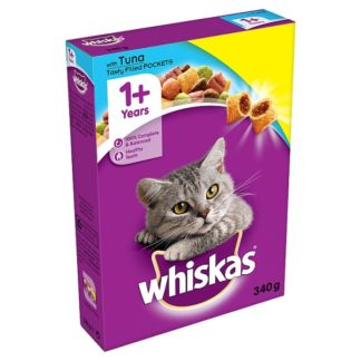 Whiskas 1+ Complete Dry Cat Food with Tuna 340g (Case of 6)