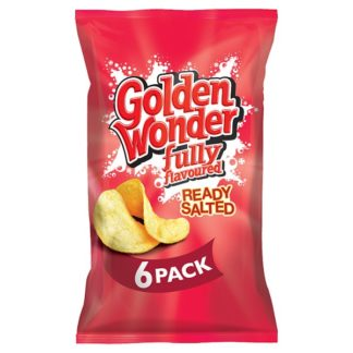 Golden Wonder Fully Flavoured Ready Salted 6 x 25g (Case of 16)