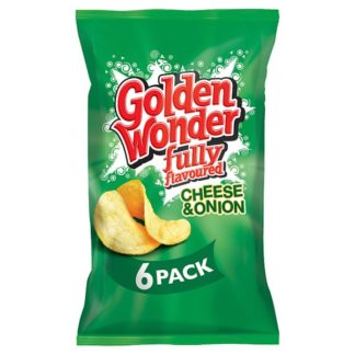 Golden Wonder Fully Flavoured Cheese & Onion 6 x 25g (Case of 16)