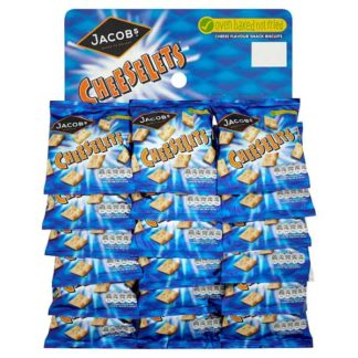 Jacobs Cheeselets Cheese Snacks 18 x 30g (Case of 18)