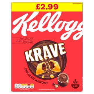 Kellogg's Krave Chocolate Hazelnut Cereal 375g (Case of 6)