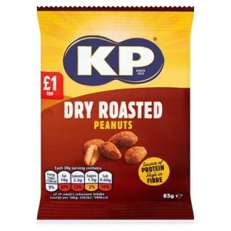 KP Dry Roasted Peanuts 65g (Case of 12)