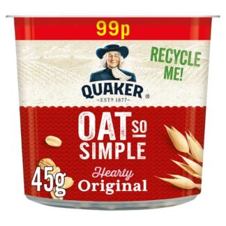 Quaker Oat So Simple Original Porridge Pot 99p RRP PMP 45g (Case of 8)