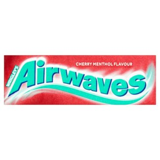 Airwaves Cherry Menthol Sugar Free Chewing Gum 10 Pieces (Case of 30)