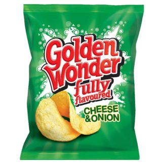 Golden Wonder Fully Flavoured Cheese & Onion 32.5g (Case of 32)
