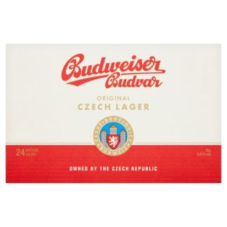Budweiser Budvar Original Czech Lager 24 x 330ml (Case of 24)