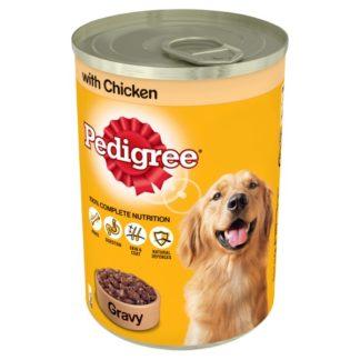 Pedigree Wet Dog Food Tin with Chicken in Gravy 400g (Case of 12)