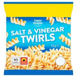 Happy Shopper Salt & Vinegar Twirls 55g (Case of 16)