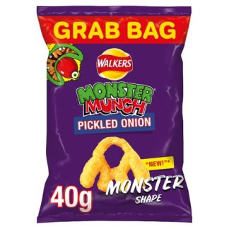Walkers Monster Munch Pickled Onion Snacks 40g (Case of 30)