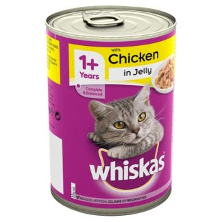 Whiskas Complete & Balanced with Chicken in Jelly 1+ Years 390g (Case of 12)