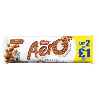Aero Bubbly Milk Chocolate Bar 36g PMP 2 for £1 (Case of 24)