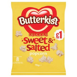Butterkist Delicious Sweet & Salted Popcorn 76g £1PMP (Case of 12)