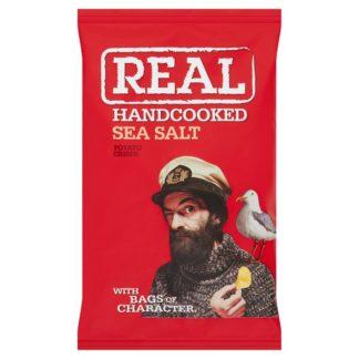 Real Handcooked Sea Salt Potato Crisps 50g (Case of 18)