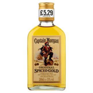 Captain Morgan Original Spiced Gold Rum Based Spirit Drink 20cl PMP £5.29 (Case of 6)