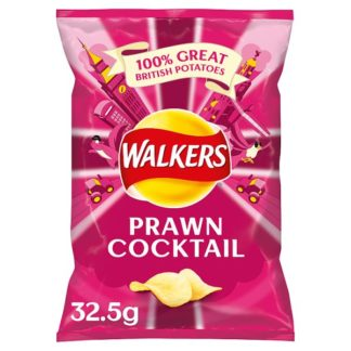 Walkers Prawn Cocktail Crisps 32.5g (Case of 32)