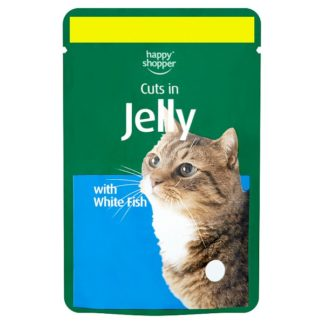 Happy Shopper Cuts in Jelly with White Fish 100g (Case of 24)