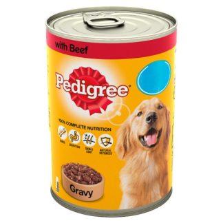 Pedigree Dog Food Tin Beef in Gravy 400g MPP 85p (Case of 12)