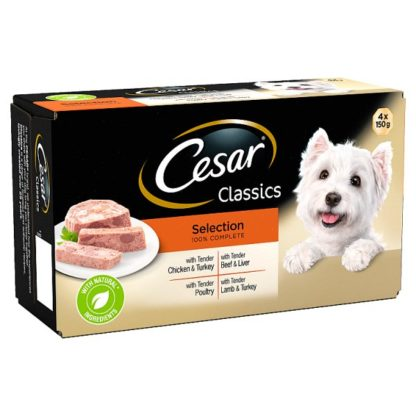Cesar Classics Wet Dog Food Trays Mixed Selection 4 x 150g (Case of 4)