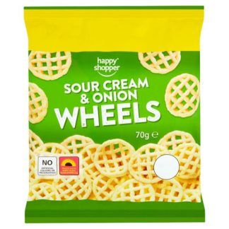 Happy Shopper Sour Cream & Onion Wheels 70g (Case of 16)