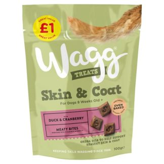 Wagg Skin & Coat Treats Duck & Cranberry 100g (Case of 8)
