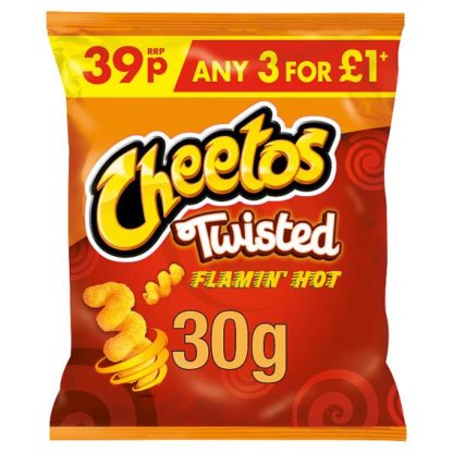 Cheetos Twisted Flamin' Hot Snacks 39p PMP 30g (Case of 30)