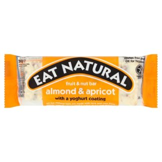 Eat Natural Fruit & Nut Bar Almond & Apricot with a Yoghurt Coating 50g (Case of 12)