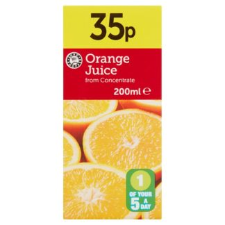 Euro Shopper Orange Juice from Concentrate 200ml (Case of 24)