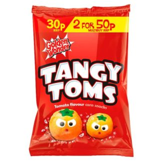 Golden Wonder Tangy Toms Tomato Flavour Corn Snacks 25g (Case of 36)