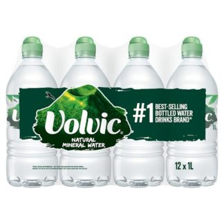 Volvic Natural Mineral Water 12 x 1L (Case of 12)