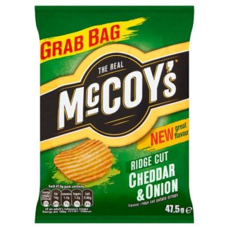 McCoy's Cheddar & Onion Crisps 47.5g (Case of 26)