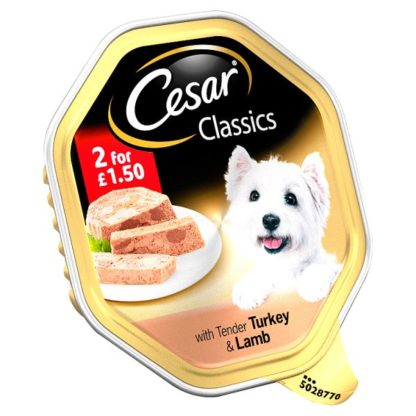 Cesar Classics Wet Dog Food Tray with Tender Turkey & Lamb in Loaf 150g (Case of 14)