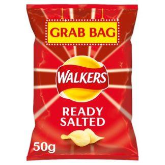 Walkers Ready Salted Grab Bag Crisps 50g (Case of 32)