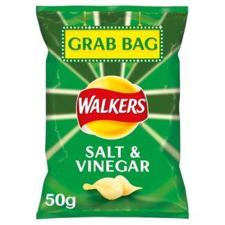 Walkers Salt & Vinegar Grab Bag Crisps 50g (Case of 32)