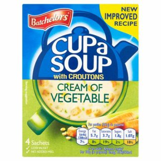 Batchelors Cup a Soup Cream of Vegetable with Croutons 4 Pack 122g (Case of 9)