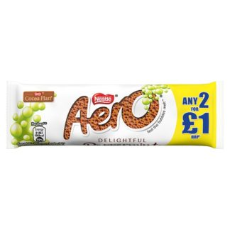 Aero Bubbly Peppermint Mint Chocolate Bar 36g PMP 2 for £1 (Case of 24)