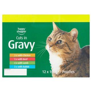 Happy Shopper Cuts in Gravy 12 x 100g (Case of 4)