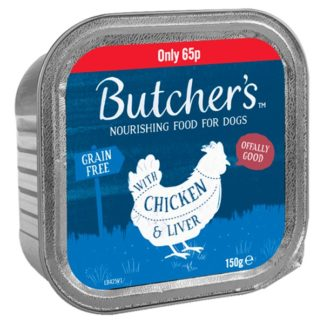 Butcher's Nourishing Food for Dogs with Chicken & Liver 150g (Case of 11)