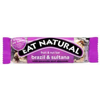 Eat Natural Fruit & Nut Bar Brazil & Sultana 50g (Case of 12)